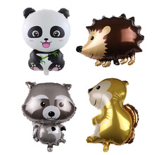 1pc Cartoon Animals Foil Balloon Hedgehog Raccoon Forest Party Decoration Helium Balloons Baby Shower Birthday Gifts Kids Toys
