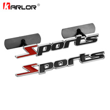 3D Metal Sports Front grill Emblem Badge Door Side Fender Trunk Auto Car Stickers Decal Accessories Car Styling Automobiles