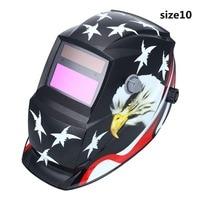 Solar Powered Auto Darkening Welding Helmet Protection For Grinding Lens Tig Welder Mask Eagle