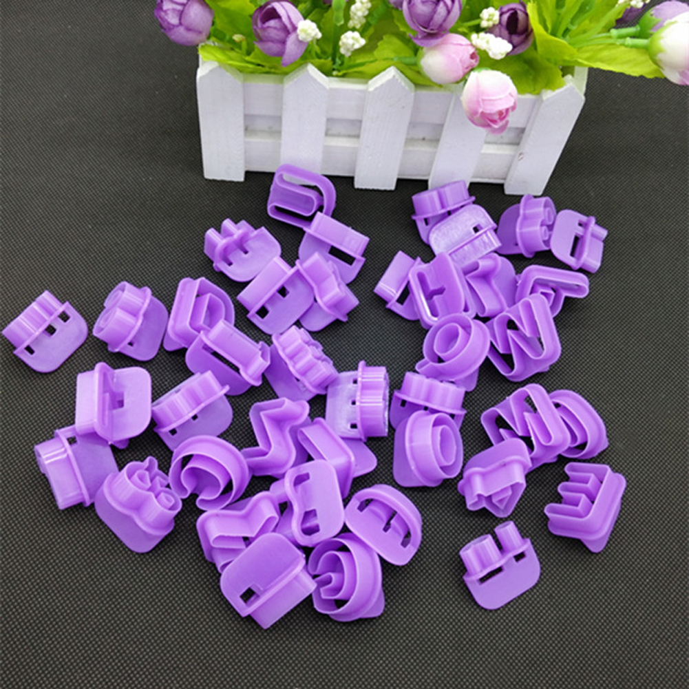 Baru 40pcs Alphabet Nombor Alphabet DIY Watak Fondant Cake Decorating Set Tukul Cutter Acuan Mold Cake Baking Tools Hiasan
