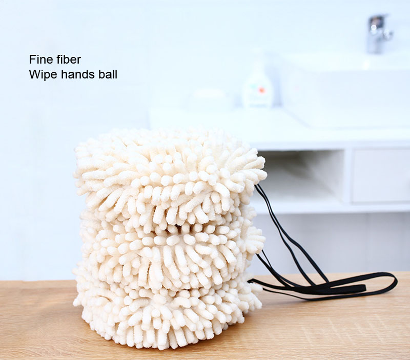 Chenille Hand Dry Towels Kitchen Bathroom Strong Water Absorption Quick Dry Towel Hanging Thick Lovely Hands Dry Ball (7)