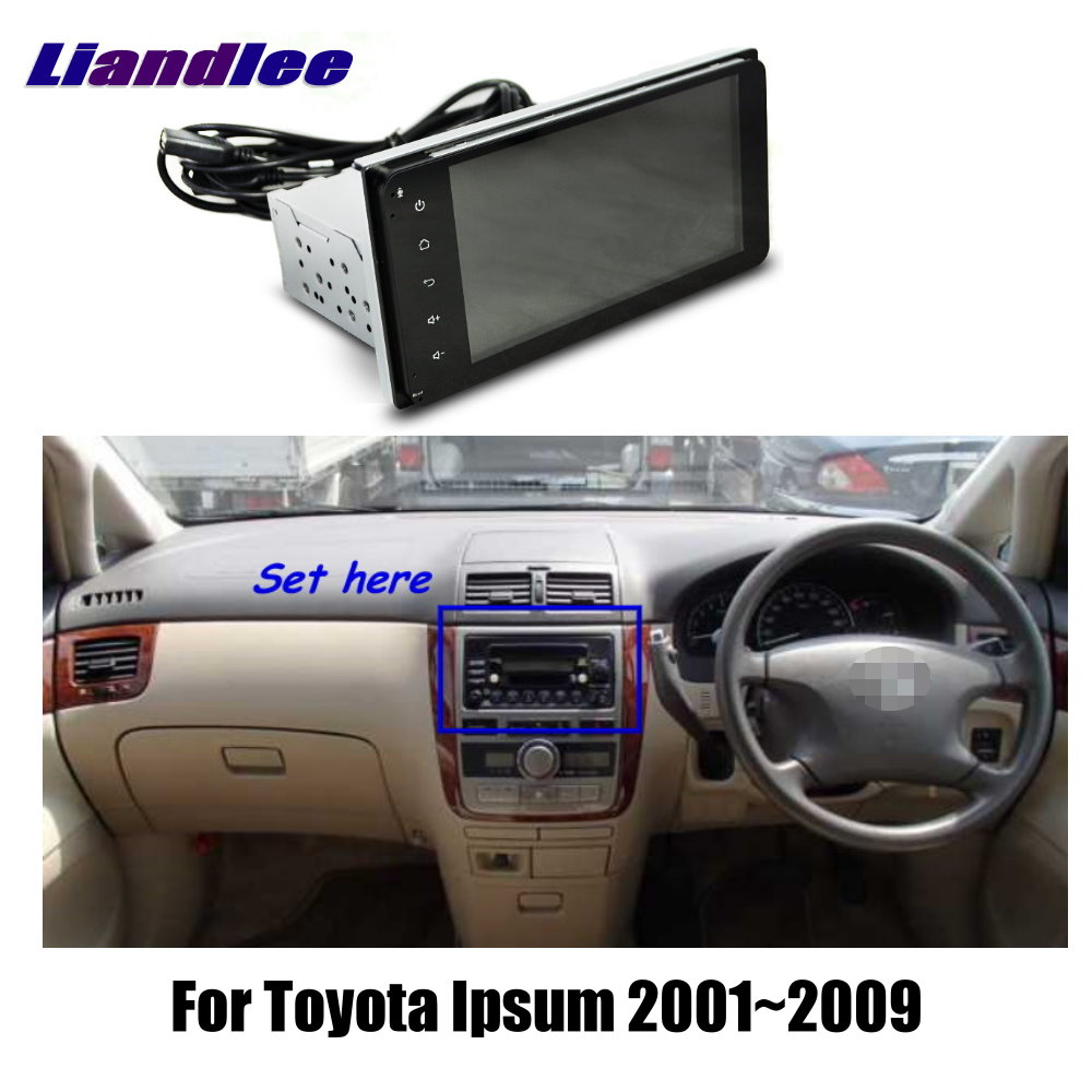 liandlee 7 for toyota ipsum 2001 2009 car android radio player gps navi maps [ 1000 x 1000 Pixel ]