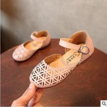 Sandálias meninas Sapatos de Verão Princesa Sapatos de Desporto Recorte Criança Do Sexo Feminino Sandálias de Praia Crianças Moda Sapatilhas De Couro Sapatos de Dança Do Bebê