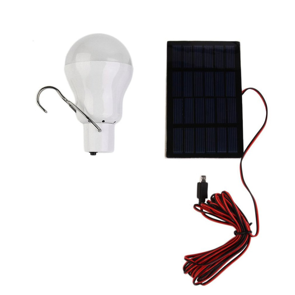 15W 130LM Portable Solar Power LED Bulb Solar Powered Light Charged Solar Energy Lamp Outdoor Lighting Camp Tent Fishing Light 2018 new solar bulb usb 5 8v charged lamp 15w indoor outdoor lampada led solar light usb rechargeable solar emergency light bulb