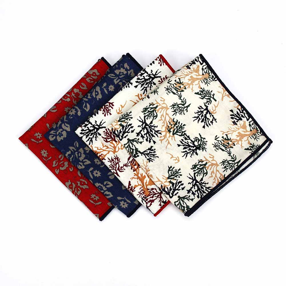 Men's Business Floral Pattern Pocket Square Wedding Party Hanky Handkerchief YFTIE0215
