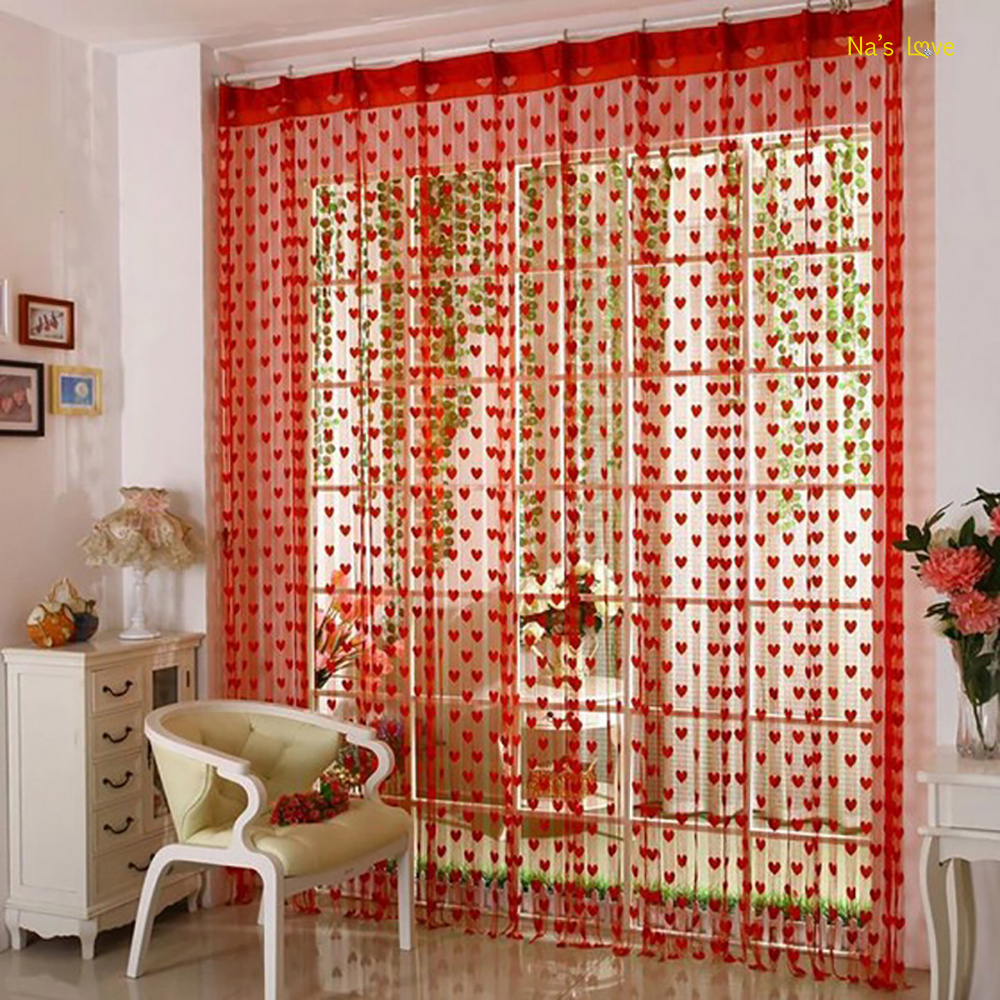 Na's Heart String Door Curtains Fly Screen Divider Room