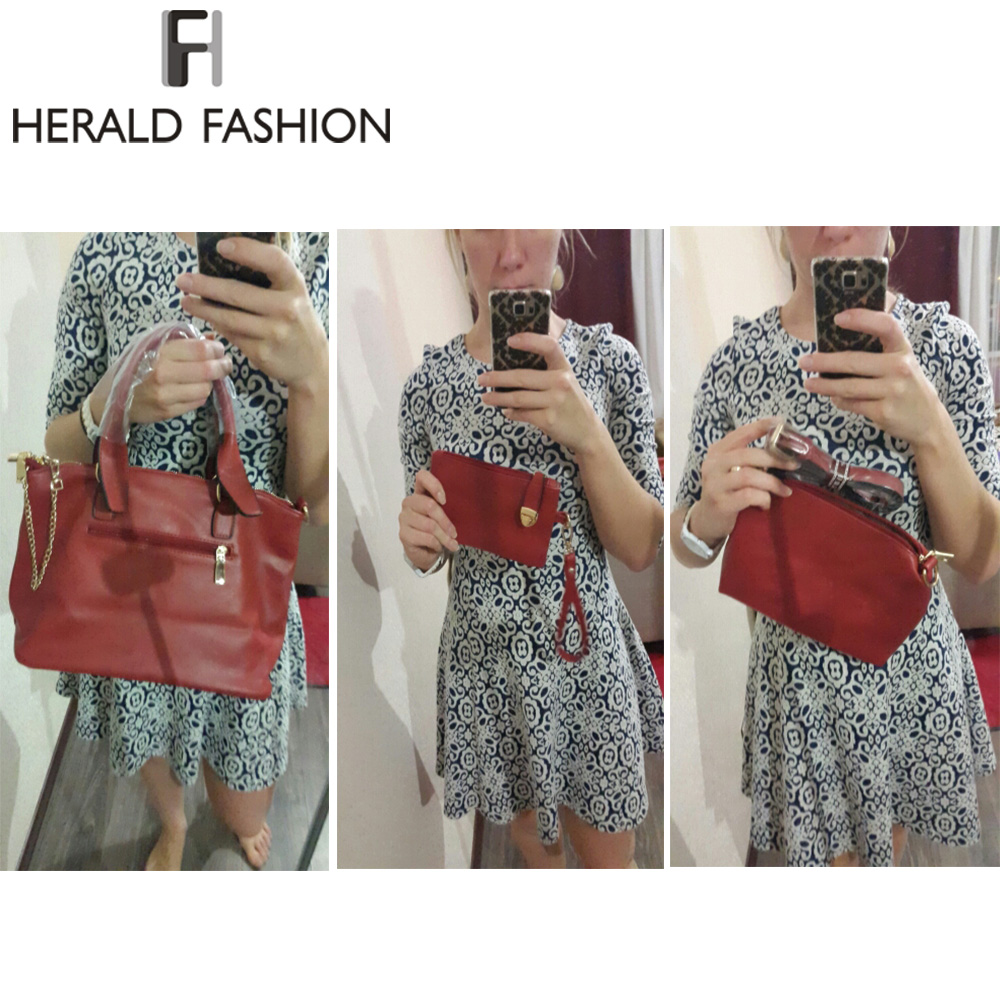 feminino bolsa sólidos sacolas de Marca : FH Herald Fashion