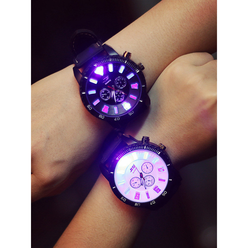Fashion Creative Men Women Watches Luxury Quartz Male Female Illuminate Wristwatch Light Flash Clock Relogio Masculino Relogio