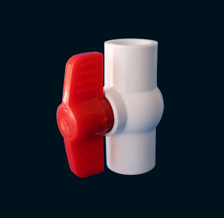 20/25/32/40/50/63/75/90/110/160/ 200mm Ball Ventil Slip Geschlossen Griff Ventil PVC Rohr Armaturen Sanitär Wasser Rohr Anschluss
