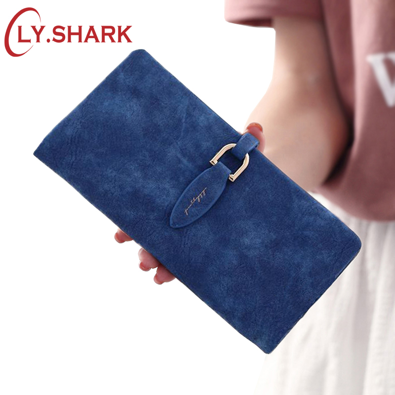 LY.SHARK Brand Woman Wallet Female Purse Women Credit Card Holder Phone Coin Purse Clutch Organizer Leather Ladies Walet Long simple organizer wallet women long design thin purse female coin keeper card holder phone pocket money bag bolsas portefeuille