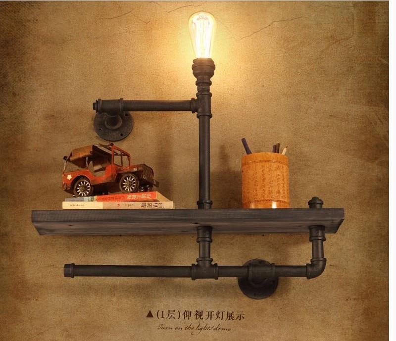 loft creative personality vintage plumbing industry study bookshelf ...