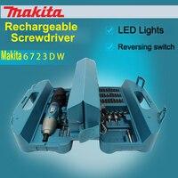 Япония Makita 6723DW аккумуляторная отвертка бытовая электрическая отвертка складывающаяся отвертка 4.5N.m