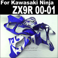 Blue silver For Kawasaki Ninja zx9r fairing kit 2000 2001 00 01 Racing Fairings +7gifts xl65