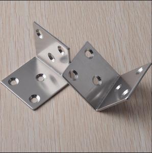 Image 3 - 50*50*50mm ze stali nierdzewnej stałe meble narożne uchwyty 90 stopni połączenia akcesoria kąt żelaza ze śrubą grubość: 2mm