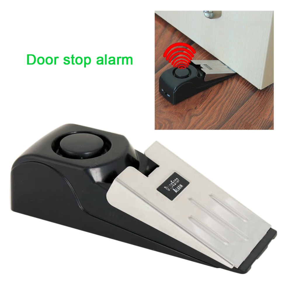 Mini Wireless Vibration Triggered Door Stop Alarm Home Wedge Shaped Stopper Alert Security System Block Blocking System Black on Aliexpress.com | Alibaba ...  sc 1 st  AliExpress.com & Mini Wireless Vibration Triggered Door Stop Alarm Home Wedge Shaped ...