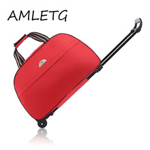 The New Fashion Waterproof Luggage Bag Thick Style Rolling Suitcase Trolley Women&Men Travel Bags with Wheels
