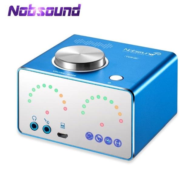 Nobsound HiFi TPA3116 Digital Amplifiers Mini Bluetooth 4.2 Desktop Integrated Power Amp Stereo USB Sound Card Headphone Amp