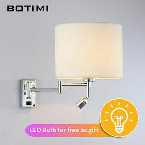 Image 3 - Botimi led lâmpada de parede cabeceira para sala estar applique murale luminária arandela para o quarto moderno projeto do hotel iluminação