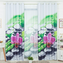 Envío libre 140 cm ancho por 260 cm de altura de la flor y de piedra moderna niño 3d cortinas para la sala de estar dormitorio decoración de la ventana