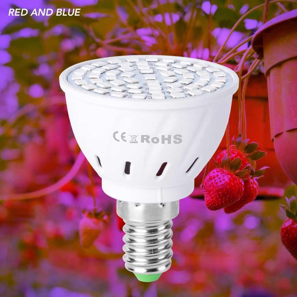MR16 Full Spectrum Led E27 Growing Light For Plants 220V E14 Led Indoor Grow Lamp 48 60 80leds UV/IR GU10 Grow Tent LED Bulb B22