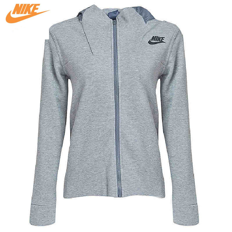 Nike Women's Spring Hooded Sports Grey Jacket for Training 822147-063 nike nike fuelband sports bracelet battery cover green m