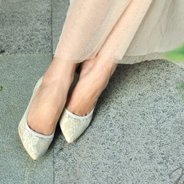 Handmade Sexy Lace Wedding Dress Shoes Bridal Shoes High Heel Party Club Shoes Cut Out Stiletto Heel Pumps