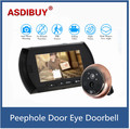 "4.3"" LCD Digital Peephole Viewer Door Eye Doorbell Video IR Motion Camera Night Vision Micro SD Card recording Home Security"