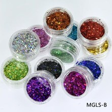 лучшая цена 12 Boxes Chunky Glitter Colorful Mixed Paillette Eye Shadow Body Nail Face Lips Hair Iridescent Flakes Sparkles Powder Sequins