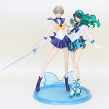 20 см Сейлор Мун фигурки Tenoh Haruka Uranus Kaiou Michiru Neptune ПВХ фигурка модель игрушки
