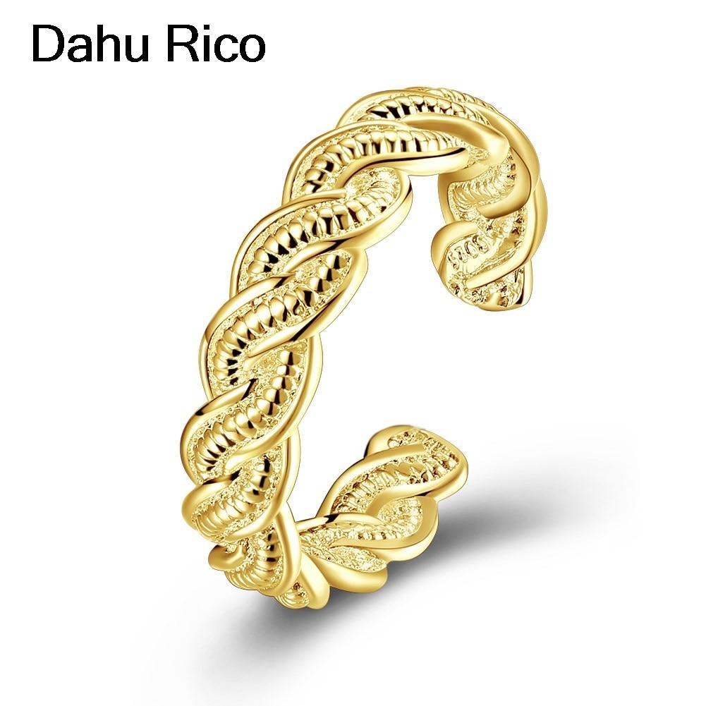 ear rings rings set for women bijoux boheme gothic joyas Dahu Rico gold plated rings