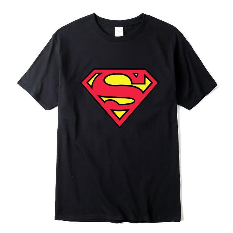 New Fashion High Quality Superman T Shirt Men Short Sleeve Cotton Casual T-shirt Superhero Top Tees Free Shipping