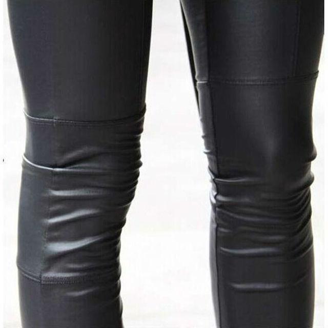 2019 women sexy Black coffee Modal leggings leggin plus size girl pants Patent leggings free shipping 4