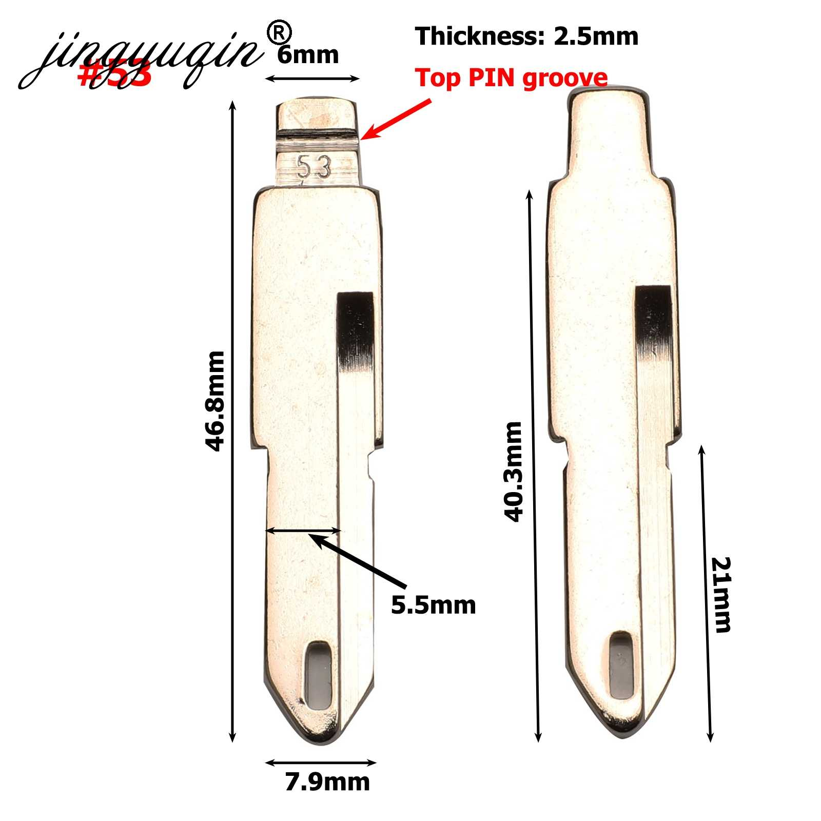 Jingyuqin VA2 HU83 SX9 № 17 #53 #54 #58 #72 #73 #83 #99 #122 для Citroen C4L Triumph peugeot 307 207 Флип Ключа автомобиля пустое лезвие ключа