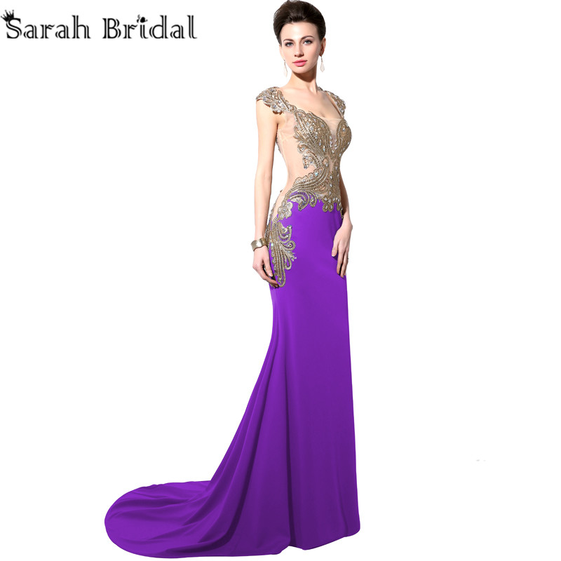 Royal Purple and Gold Dresses – Fashion design images