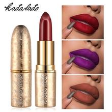 KADALADO Brand Sexy Lips Matte Lipstick Velvet Nude Waterproof Long Lasting Batom Make up Lip Stick Beauty Cosmetics