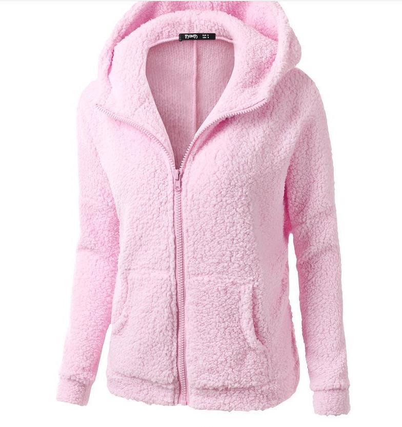 97e80854ec7 Hot   Autumn Winter Hoodie Sweatshirt Women 2018 Solid Casual Zipper Thick Plush  Hoodies Jacket Loose Sweatshirts Plus Size 5XL-in Basic Jackets from ...