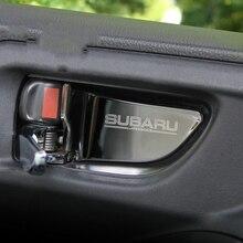 Автомобильная внутренняя дверная ручка, накладка на чашу, Накладка для Subaru Forester Xv Outback Legacy Impreza StI STI 2013-, автомобильный стиль