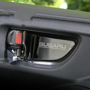Image 1 - רכב פנים דלת ידית קערת כיסוי תיקון לקצץ עבור סובארו פורסטר Xv אאוטבק Legacy אימפרזה StI STI 2013 2017 רכב סטיילינג
