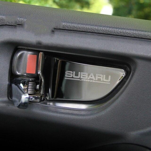 רכב פנים דלת ידית קערת כיסוי תיקון לקצץ עבור סובארו פורסטר Xv אאוטבק Legacy אימפרזה StI STI 2013 2017 רכב סטיילינג