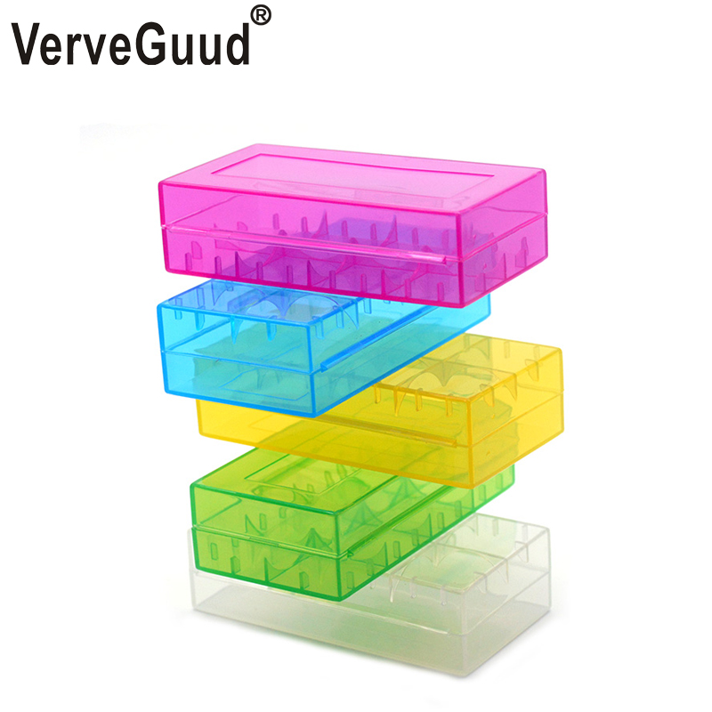 VerveGuud 2Pcs Plastic <font><b>Battery</b></font> Protective Storage Boxes <font><b>Cases</b></font> Holder For 18650 18350 16340 CR123A <font><b>18500</b></font> <font><b>Battery</b></font> Free shipping image