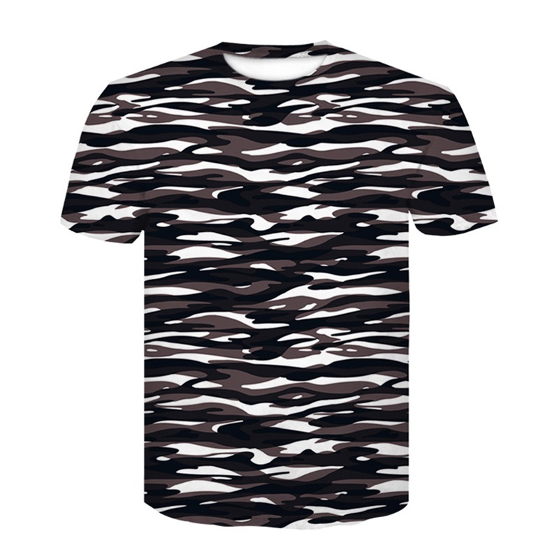Summer Casual T-Shirt Men Camouflage  Army Print Fashion Tshirt Slim Short Sleeve 0-neck Brand 3D T shirt