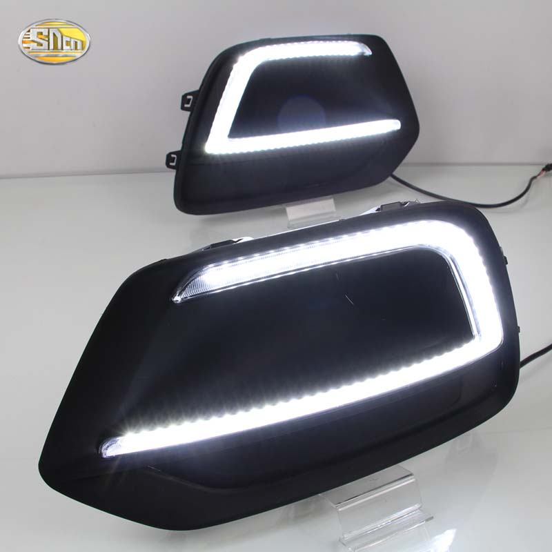 SNCN Led Daytime running lights for Chevrolet Trax 2016 2017 Day light fog lamp cover with yellow turning signal function sncn led daytime running lights for volkswagen vw passat cc 2010 2011 2012 2013 drl fog lamp with yellow turning signal lights