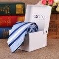 2017 Fashion 20 Estilos Gravata Tie Hanky Abotoaduras Define 100% De Seda Gravatas Laços para Festa de Casamento Dos Homens de Negócios Frete Grátis