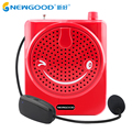 Portable Voice Amplifier with Wired Microphone Megaphone Booster Loudspeaker for Teacher Tour Guide Support USB TF card FM radio