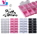 New 12 Checks Empty Nail Art Decorations Storage Case Box Nail Glitter Rhinestone Crystal Beads Accessories  Container Wholesale