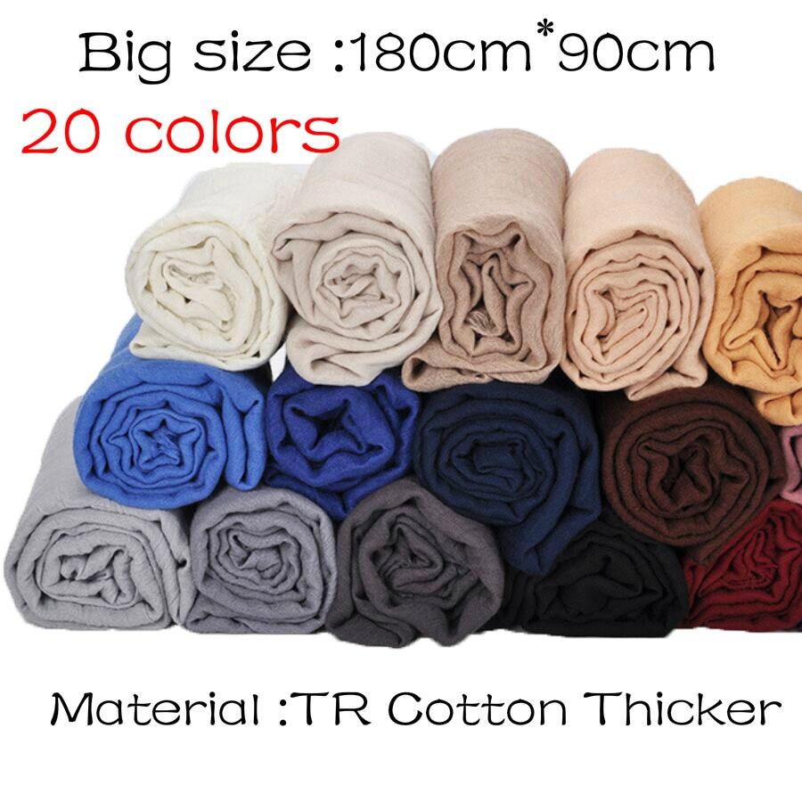 1 pcs Plain hijabs for women viscose solid color winter scarf muslim head wrap tassel scarves 20 colors plus size 180CM*90CM