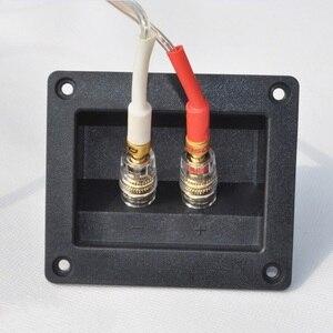 Image 3 - 2pcs Due Spilli Audio Speaker Banana Connettore di Rame di Rame Terminale di Cablaggio Degli Altoparlanti Audio Presa
