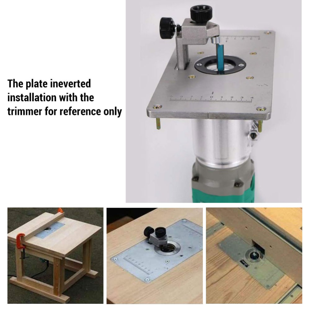 Durable Aluminum Router Table Insert Plate 700C for Woodworking Benches