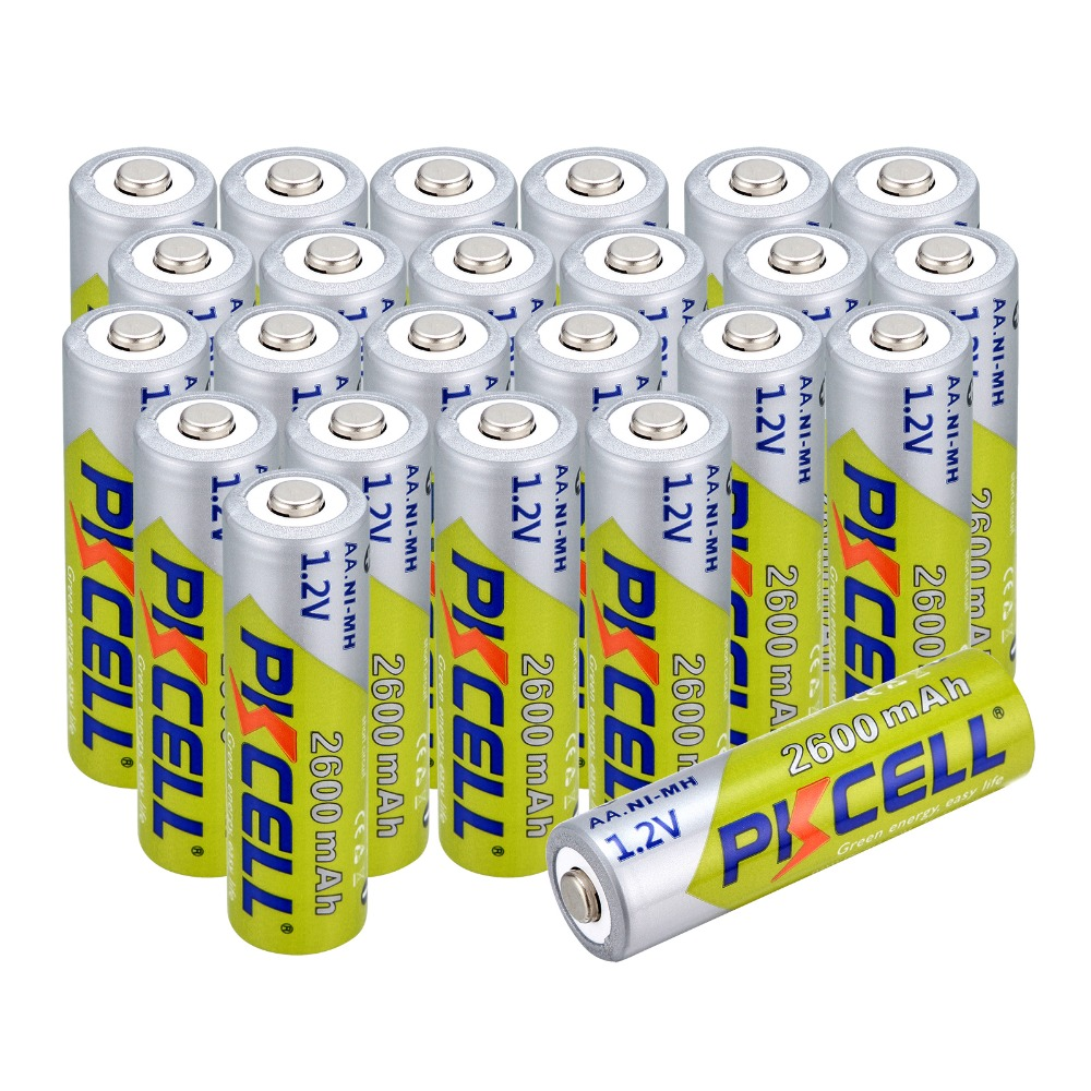 24 pcs 1.2V aa NI-MH 2600Mah Batteries AA Rechargeable Battery Batteries 2A Bateria Baterias 2a Pre-charged Bateria