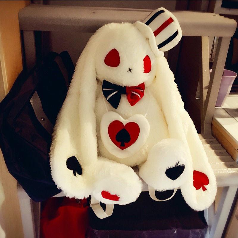 "20 ""amuse pote loppy 토끼 봉제 인형 배낭 로리타 소녀 숄더 백 선물-에서백팩부터 수화물 & 가방 의  그룹 1"